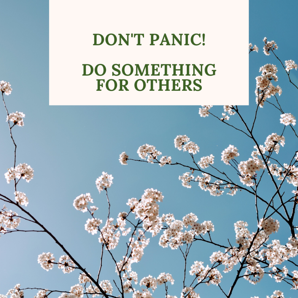 Keep Calm & do something for others